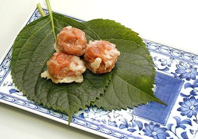 梅干の天ぷらなど、様々な揚げ物に